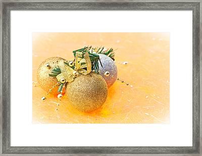 Christmas Bawbles Framed Print
