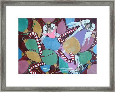 Christmas Bulbs Framed Print by Mary Crochet