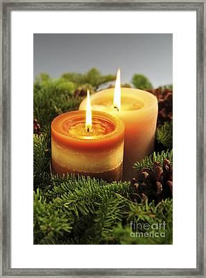 Christmas Candles Framed Print by Elena Elisseeva