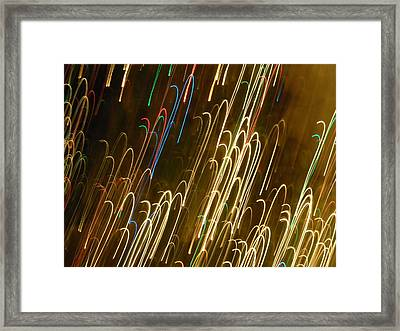 Christmas Card - Candy Canes Framed Print