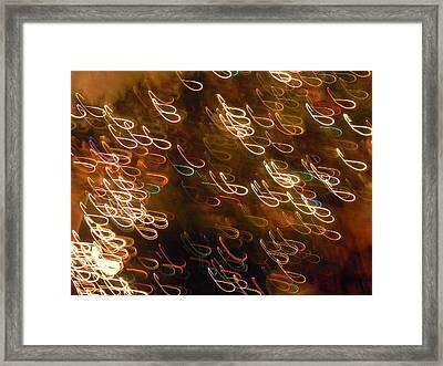 Christmas Card - The Manger Framed Print