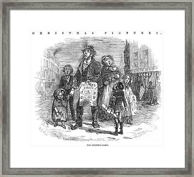 Christmas Carolers, 1874 Framed Print by Granger