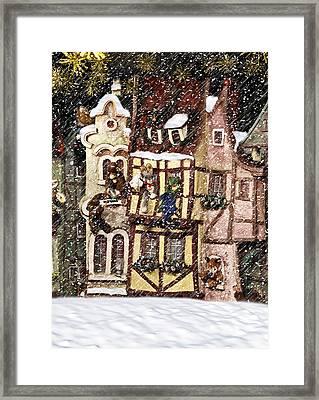Christmas Cottage Framed Print