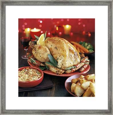Christmas Dinner Framed Print by David Munns