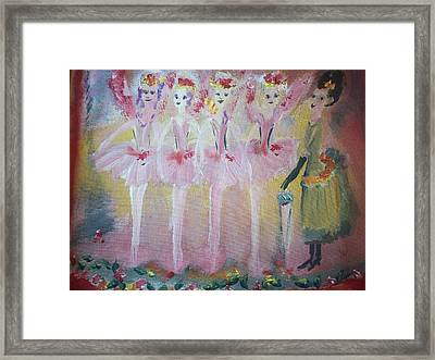 Christmas Eve Fairies Framed Print by Judith Desrosiers