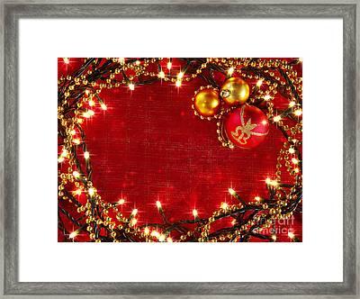 Christmas Frame Framed Print