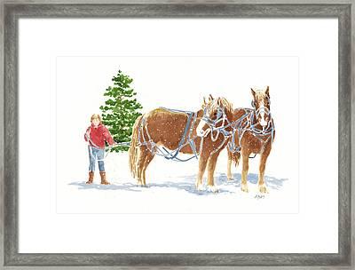 Christmas Horses Framed Print