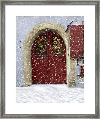 Christmas In Germany Framed Print by Cecil Fuselier
