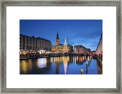 Christmas In Hamburg Framed Print