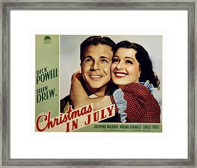 Christmas In July, Dick Powell, Ellen Framed Print