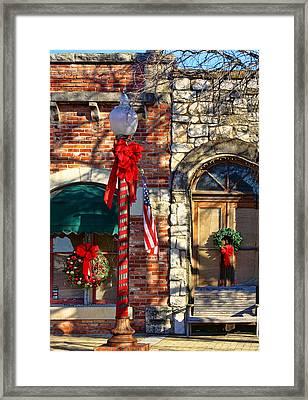 Christmas In Salado Texas Framed Print