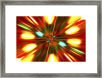 Framed Print featuring the photograph Christmas Light Abstract by Steve Purnell