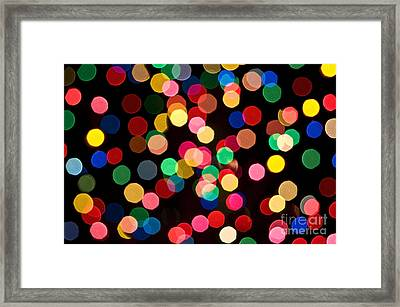 Christmas Lights Framed Print by John Greim