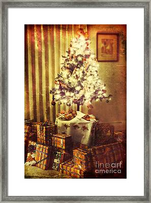 Christmas Morning Framed Print by HD Connelly