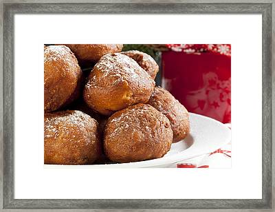 Christmas Oliebollen Framed Print by Charlotte Lake