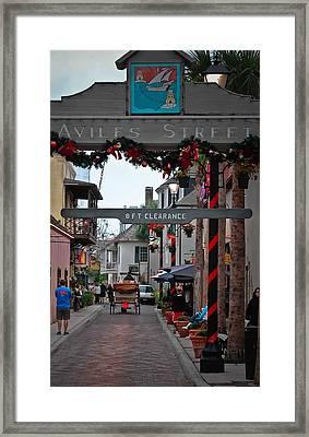 Christmas On Aviles Street Framed Print