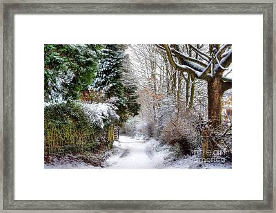 Christmas On The Chase Framed Print