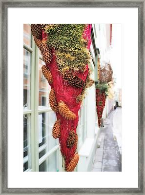 Christmas Ornaments In The Street Framed Print by Aleksandr Volkov