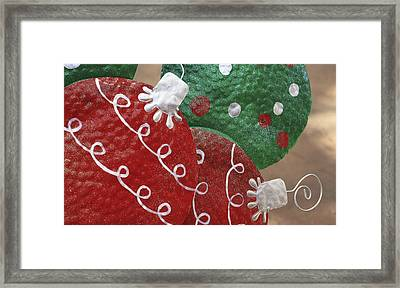 Christmas Ornaments Framed Print by Patrice Zinck