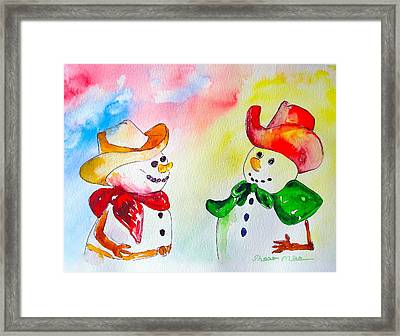 Framed Print featuring the painting Christmas Partners by Sharon Mick