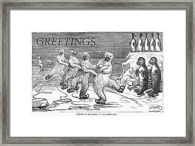 Christmas: Polar Bears Framed Print by Granger