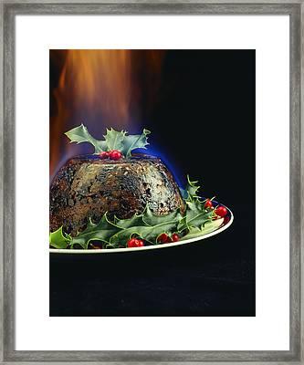 Christmas Pudding Framed Print by David Munns