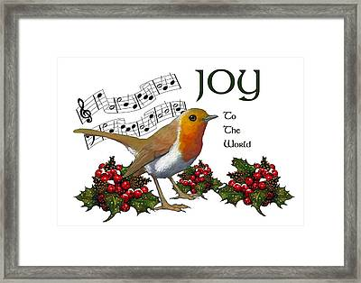 Christmas Robin Framed Print by Joyce Geleynse