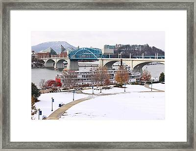 Christmas Snow Framed Print by Tom and Pat Cory