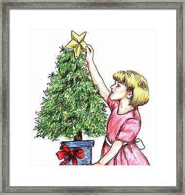 Christmas Star Framed Print
