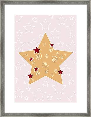 Christmas Star Framed Print by Frank Tschakert