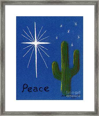 Christmas Star Greeting Card Framed Print by Judy Filarecki