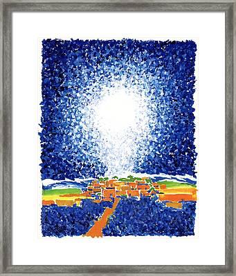 Christmas Star Framed Print by Rodger Ellingson