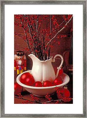 Christmas Still Life Framed Print by Garry Gay