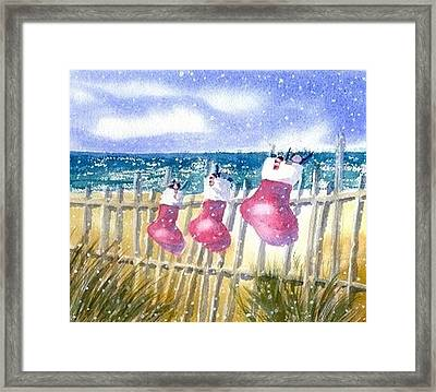 Christmas Stockings Framed Print by Joseph Gallant