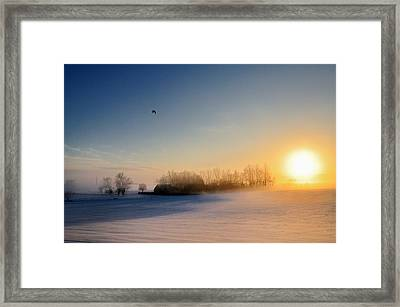 Christmas Sunset Framed Print by Pierre Hanquin Photographie