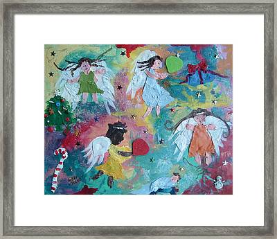 Christmas Surprise Framed Print by Mary Crochet