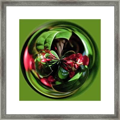 Christmas Time Orb Framed Print by Sandi Blood