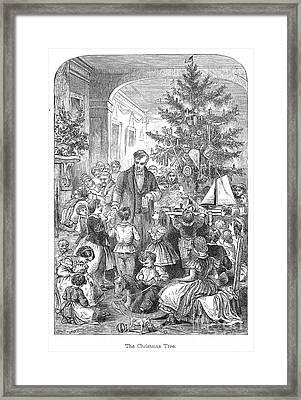 Christmas Tree, 1870 Framed Print by Granger