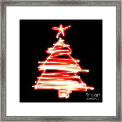 Christmas Tree Lighting Framed Print by Setsiri Silapasuwanchai