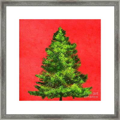 Christmas Tree Painting Framed Print by Setsiri Silapasuwanchai