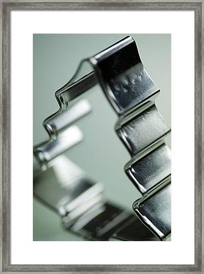 Christmas Tree-shaped Pastry Cutter Framed Print by Pasieka