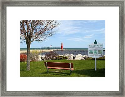 Christmas Tree Ship Point In Algoma Framed Print by Mark J Seefeldt