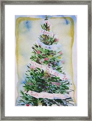 Framed Print featuring the painting Christmas Tree by Tilly Strauss