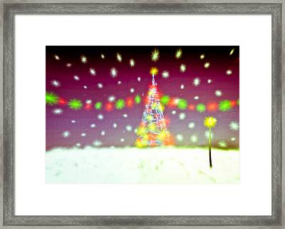 Christmas Tree Framed Print by Tom Gowanlock