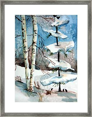 Christmas Twitters Framed Print by Mindy Newman