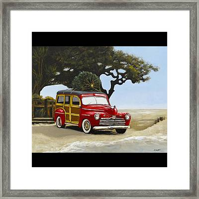 Christmas Woody Framed Print
