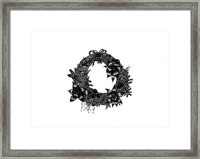 Christmas Wreath Framed Print