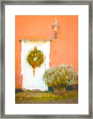 Christmas Wreath Framed Print by Tom Gowanlock