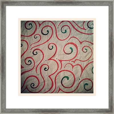 #christmasart #red #green #sharpie Framed Print