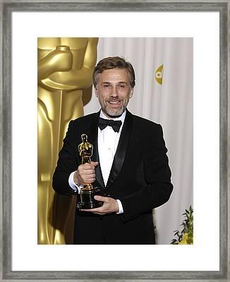 Christoph Waltz, Best Actor Framed Print by Everett